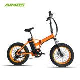 Faltendes elektrisches Fahrrad des energiesparenden leistungsfähigen Schnee-500W