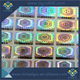 Autocolante com holograma laser de segurança com código de barras