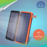Alta capacidad plegable Cargador Solar cargador portátil con linterna Solar Power Bank 10000mAh 20000mAh