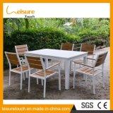 Haltbarer Aluminiumausgangs-/Hotel-Tisch-gesetzter Patio-Speisetisch und Stuhl-gesetzter moderner Garten-im Freienmöbel