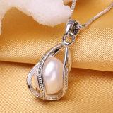 Las mujeres de perla natural joyas collares Colgante Collar