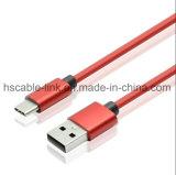 USB 2.0 de carga rápida de un macho A USB 3.1 Cable tipo C