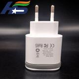 Быстрая зарядка мобильного телефона с двумя зарядное устройство USB в ЕС разъем