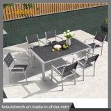 Pátio exterior de Jantar Conjunto de mesa e cadeira de lazer moderno mobiliário de jardim