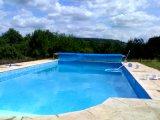 Azul Alimentação da fábrica grande cobertura piscina de plástico bolha