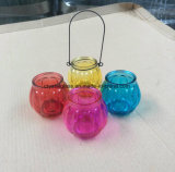 Form-bewegliche bunte Glaskerze-Halter