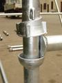 Cuplok andamio de la construcción de la estructura de acero