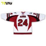 Diseño personalizado con cuello en V Camisetas de entrenamiento de Hockey sobre Hielo