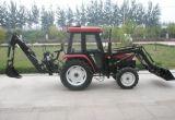 フロント・エンドローダーおよびバックホウが付いている4WD 40HPの農場トラクター