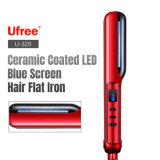 LED en céramique Affichage sur écran bleu cheveux tailleuse de fer plat