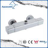 Misturador de barra quadrada Válvula de chuveiro Conjunto de banheiro termostático cromado (AF4316-7)