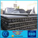 Estera tejida PP negra del control de Weed para el uso del jardín de la agricultura