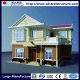 Novo tipo casas residenciais pré-fabricadas de quadro do aço do calibre da luz
