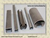 Solo tubo ranurado del acero inoxidable 304 para la cerca de cristal