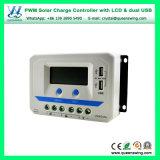 Brandnew регулятор обязанности USB PWM 12V/24V/36V/48vauto 10A/20A/30A/45A/60A LCD двойной солнечный (серии VS-AU)