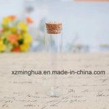 Frasco de vidro de câmara de ar do tubo de ensaio do Borosilicate com cortiça