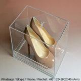 Custom acrílico transparente de alta calidad caja de zapatos