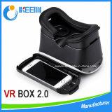 전화를 위한 Vr 상자 헤드폰 3D 유리