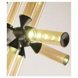 현대 코냑 유리제 샹들리에 다락 거는 램프 펜던트 빛