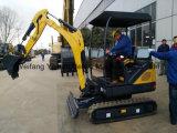 Mini excavador para las operaciones Greening
