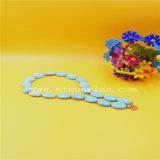 Optimiert, Türkis-Halskette mit ovalen Raupen aufbereitend
