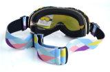 PC de jeu personnalisé de lunettes de ski avec bracelet en silicone anti-patinage