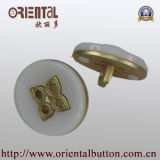Combine Buttons per Coat in White Nylon con Gold Base