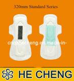 Serviettes sanitaires d'OEM de coton jetable économique de femmes (PS-280)
