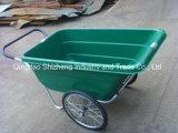 Wheelbarrow resistente duplo da capacidade de carga 150kg da roda (WB3089)