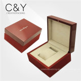 Cadre de empaquetage de montre en bois à haute brillance rouge spéciale