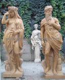 庭の装飾(SY-X1191)のための大理石の切り分ける彫像の旧式な彫刻によって切り分けられる石