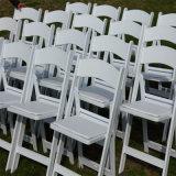 Plegado de resina de alta calidad fábrica de sillas blancas