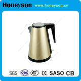 1000W dorato 1.2L Big Mouth Hotel Stainless Steel Electric Water Kettle