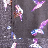 Habillement Rayon Fabric with Birds Pattern imprimé