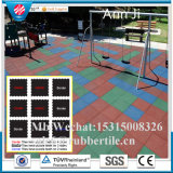 Mármore de interior do ginásio Mats 1m by 1m, Gym Rubber Flooring / Gymnasium Flooring