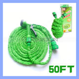 25ft/50ft/75ft/100ft Green Double Layer Latex Expandable Garten Water Hose mit 7 in 1 Nozzle