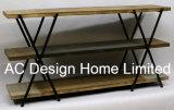3 de Antieke Uitstekende Houten Decoratie van de rij/de Plank van de Opslag van het Metaal