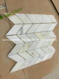 Pulido de pisos de mármol blanco Calacatta baldosa mosaico de piedra de la pared