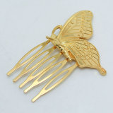 은 또는 Gold Plated Pretty Butterfly Hair Combs