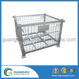 Recipiente de malha de arame soldado e armazenamento com 4 rodízios para armazenagem e transporte