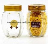 De verschillende Kruik van het Glas van de Vorm voor Honing, Voedsel, Saus, Jam, Opslag