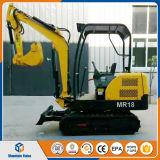 中国の小型坑夫のクローラー掘削機1.8tonの小型掘削機の価格