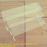Canalisations verticales au détail acryliques claires d'étalage de chaussure et de sac