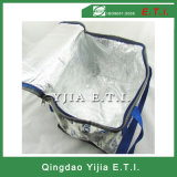 Sacchetto più freddo Zippered tela di canapa isolato su ordinazione del cotone