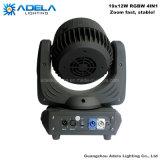 Indicatore luminoso capo mobile della lavata del fascio dello zoom 19X12W LED
