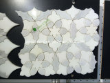 Nuevo diseño de flores Negro y mosaico de mármol de Carrara Mosaico