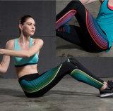 Pantaloni di yoga delle donne di ginnastica di Wicking del sudore di stampa di sublimazione di buona qualità di prezzi bassi