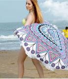 Tovagliolo di spiaggia rotondo stampato multifunzionale del cotone di Microfiber