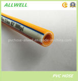Manguito de aire de alta presión reforzado tejido fibra amarilla del aerosol del PVC del plástico 8.5m m