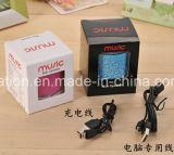 휴대용 차량 차 LED 무선 USB 이동 전화 마이크 소형 건강한 음악 Bluetooth 스피커